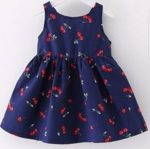 Cherry Blue Sundress 2T Back Tie